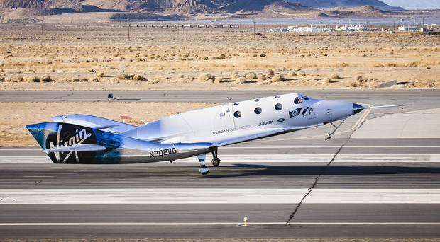 Handout photo issued by Virgin Galactic of the Virgin Spaceship Unity (VSS Unity) (Virgin Galactic/PA)