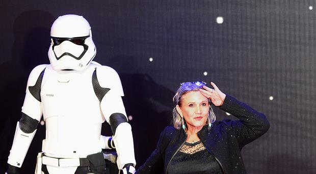 Carrie Fisher attending the Star Wars: The Force Awakens European Premiere in Leicester Square, London (Anthony Devlin/PA)