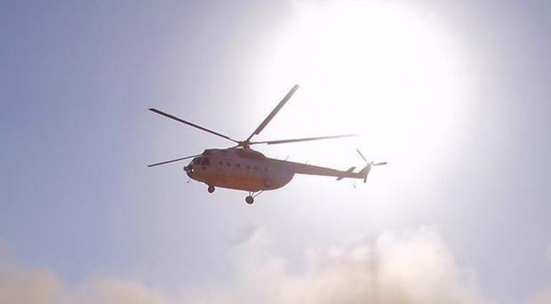An Mi-8 helicopter was involved in the crash (Handout/PA)
