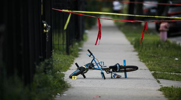 There was a surge in gun violence in Chicago over the weekend (Armando L. Sanchez/Chicago Tribune via AP)