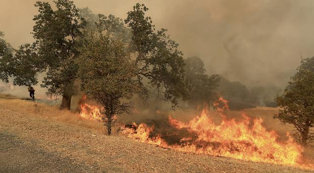 At least 75 homes have been lost in the blazes (Kent Porter/The Press Democrat via AP)