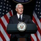 Vice President Mike Pence announces the Space Force plan at the Pentagon (Evan Vucci/AP)