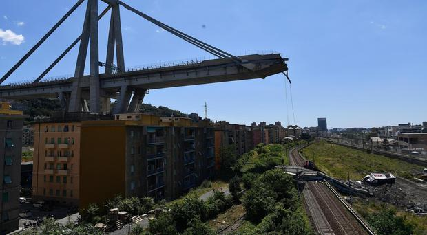 Genoa is under a 12-month state of emergency (AP Photo/Nicola Marfisi)