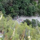 Rescuers work at the Raganello Gorge (Francesco Capitaneo/ANSA via AP)