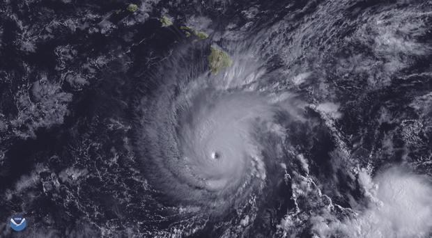 Hurricane Lane south of Hawaii (NOAA via AP)