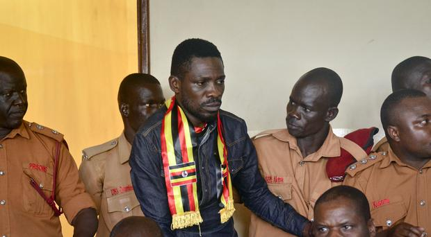 Kyagulanyi Ssentamu, also known as Bobi Wine, won a parliament seat last year without the backing of a political party (AP)