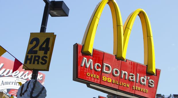 BDS Ireland are staging a protest at a McDonald's in west Belfast. (Chris Ison/PA)
