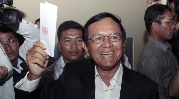 Kem Sokha's opposition party has been dissolved by courts (AP Photo/Heng Sinith, File)