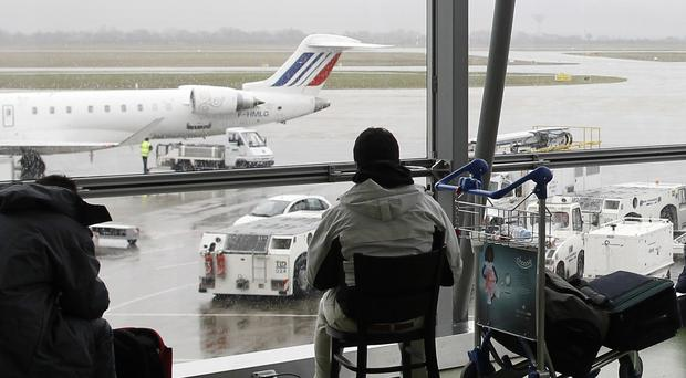 The incident halted flights at Lyon-Saint Exupery airport (AP)