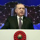 Turkey's President Recep Tayyip Erdogan has criticised the central bank (Presidential Press Service via AP)