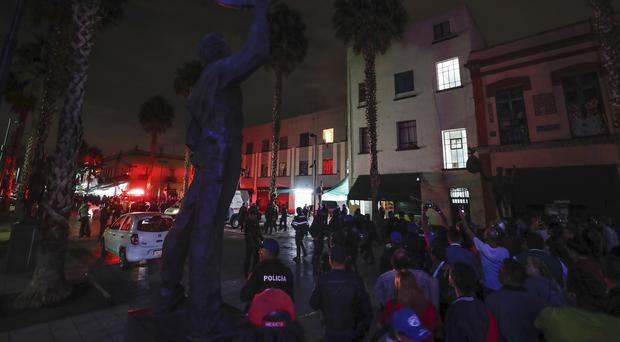 The shootings took place in Mexico City (AP Photo/Stringer)