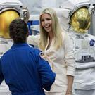 Astronaut Nicole Mann talks to Ivanka Trump (Brett Coomer/Houston Chronicle via AP)