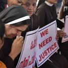 Catholic nuns have been demanding the arrest of the bishop (AP)