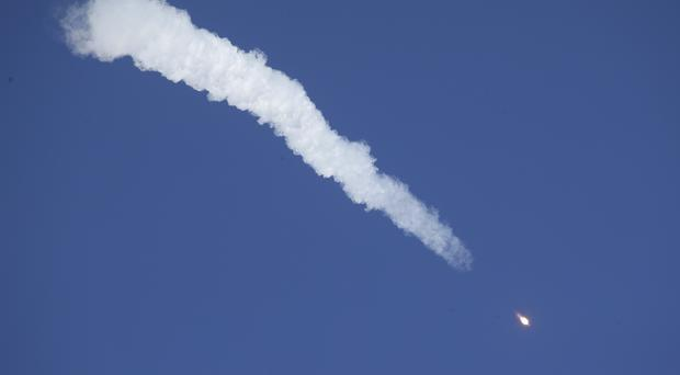 The Soyuz rocket booster failed after launch (Dmitri Lovetsky/AP)