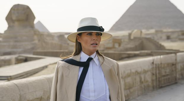 US first lady Melania Trump was interviewed during a trip to Africa (Carolyn Kaster/AP)