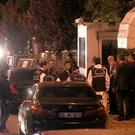 Turkish police enter the Saudi Arabian consulate in Istanbul