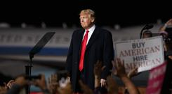 President Donald Trump spoke at a rally in Montana (Carolyn Kaster/AP)