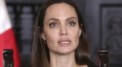 Angelina Jolie at a press conference at government palace in Lima, Peru (Martin Mejia/AP)