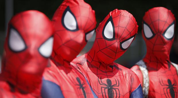 Spider-Man costumes were among those seized.