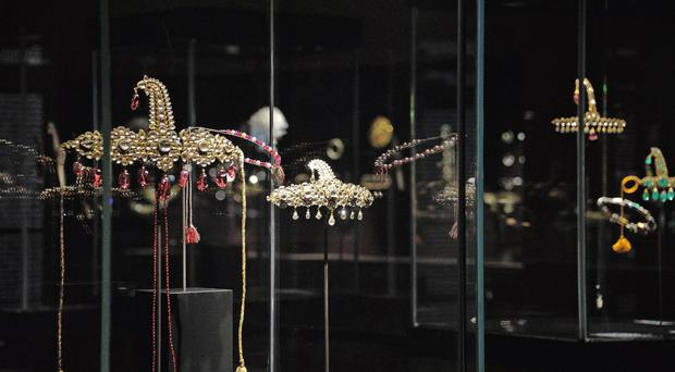 Some jewels from the famed Al Thani Collection (Andrea Merola/Ansa/AP)