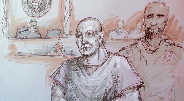 Cesar Sayoc in federal court (Daniel Pontet via AP)