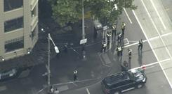 Police shot a knife-wielding man after the stabbing in Melbourne (Australian Broadcasting Corporation via AP)