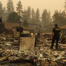 The rubble of a house burned in Paradise, California (John Locher/AP)