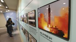 The latest test did not appear to be a nuclear device or a long-range missile (Ahn Young-joon/AP)