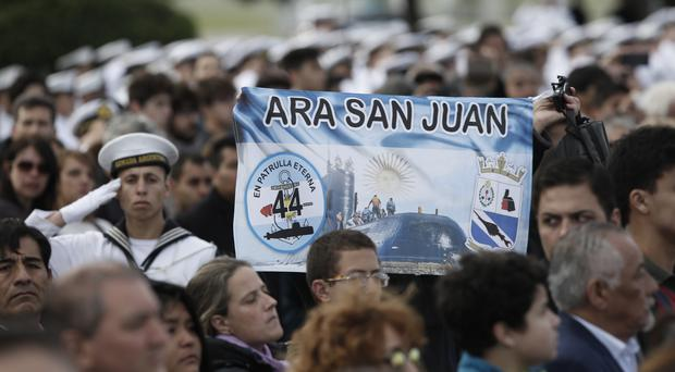 Relatives of the missing crew of the ARA San Juan submarine marked the year anniversary of the vessel's disappearance earlier this week (AP Photo/Vicente Robles)