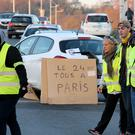 Demonstrators protest in Bayonne (AP Photo/Bob Edme)