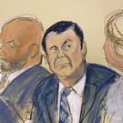 "Joaquin ""El Chapo"" Guzmanin court (Elizabeth Williams via AP)"