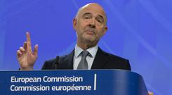 European commissioner for economic and financial affairs Pierre Moscovici (AP Photo/Virginia Mayo)