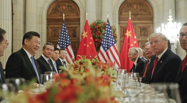 The presidents of China and the US met in Argentina (Pablo Martinez Monsivais/AP)