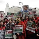 Teachers on strike (Marcio Jose Sanchez/AP)