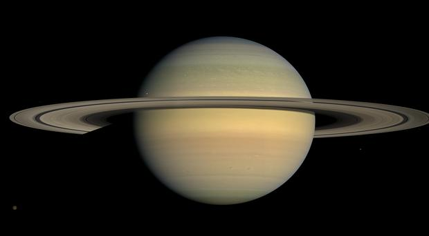 The planet Saturn, as seen from the Cassini spacecraft (Nasa/AP)