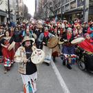 The incident came after the Indigenous Peoples March on Friday (AP)