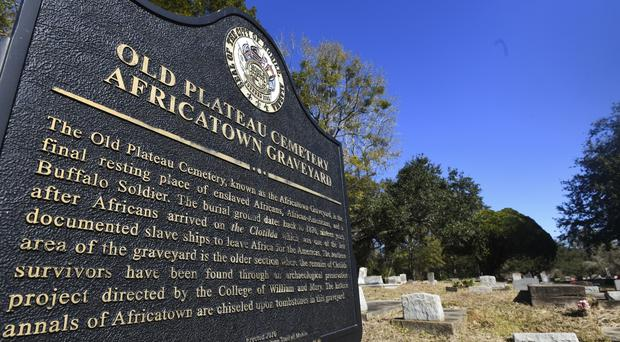 Old Plateau Cemetery, the final resting place for many who spent their lives in Africatown (Julie Bennett/AP)