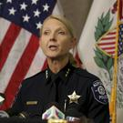 Aurora Police Chief Kristen Ziman said the gunman was fatally shot (Patrick Kunzer/AP)