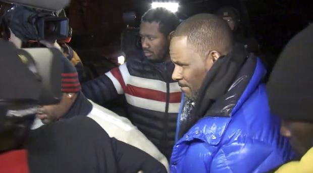 R Kelly turned himself into police (ABC7 Chicago/WLS/AP)