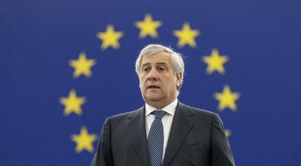 European Parliament president Antonio Tajani has apologised for remarks he made (Jean-Francois Badias/AP)