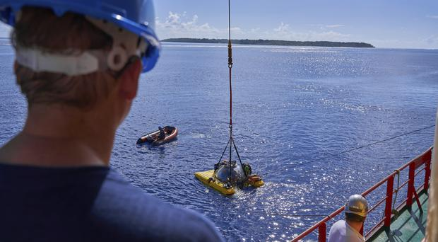Submersibles being sent to recover a remotely operated vehicle which was lost (David Keyton/AP)
