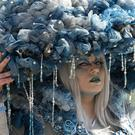 Cosplayer 'Kasan' dressed in the fantasy costume 'Rain Cloud' at the Manga Comic Convention at the Leipzig International Book Fair (Jens Meyer/AP)