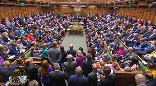Members of Parliament during Prime Minister's Questions (House of Commons/PA)