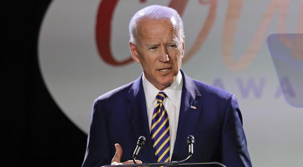 Joe Biden said he will be 'more mindful of people's personal space (AP Photo/Frank Franklin II)