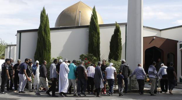 A gunman opened fire at the Al Noor mosque in Christchurch, New Zealand (AP Photo/Mark Baker)