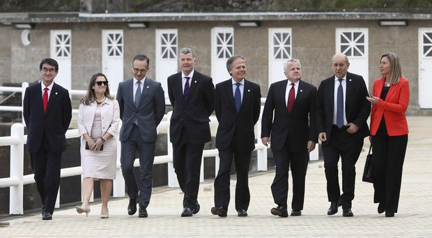 G7 ministers in Dinard, Brittany (David Vincent/AP)