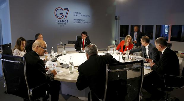The G7 meeting took place in France (Stephane Mahe/AP)