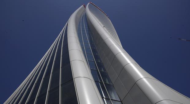 The Generali tower in Milan, which was designed by late architect Dame Zaha Hadid (Luca Bruno/AP)