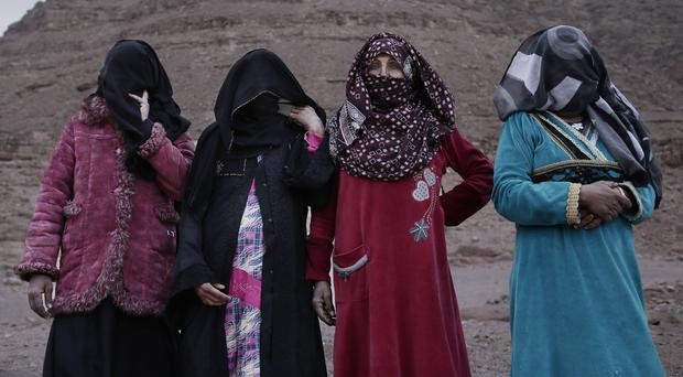 The first female Bedouin guides (Nariman El-Mofty/AP)