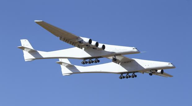 Stratolaunch makes its historic first flight from the Mojave Air and Space Port in California (Matt Hartman/AP)